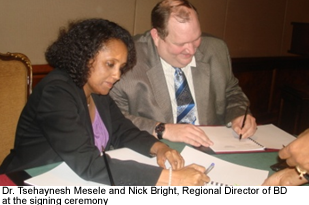 EHNRI signs Lab. equipment maintenance agreement with BD