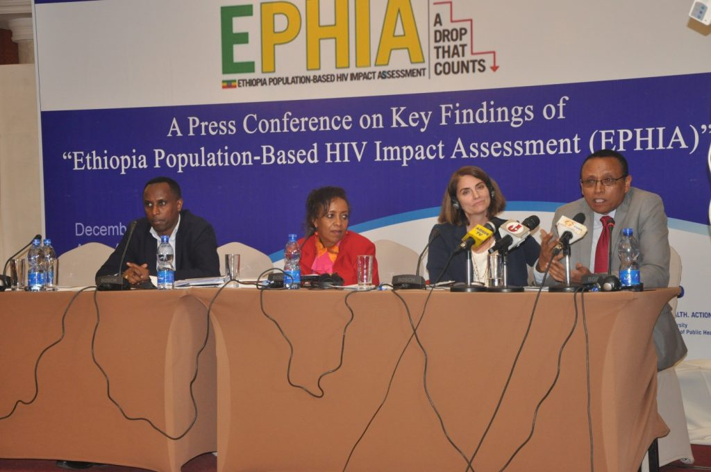 NEW FINDINGS OF ETHIOPIA POPULATION BASED HIV IMPACT ASSESSMENT RESULT RELEASED