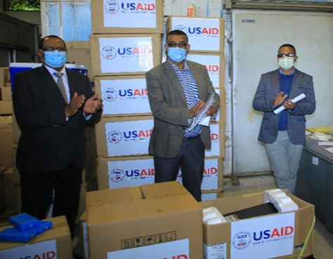 The USAID- IDDS project hands over laboratory equipment, reagents and supplies to EPHI