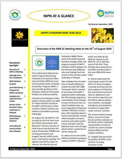 September 2020 NIPN Newsletter